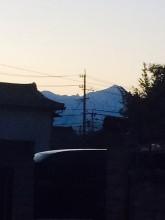 槍ヶ岳を望む